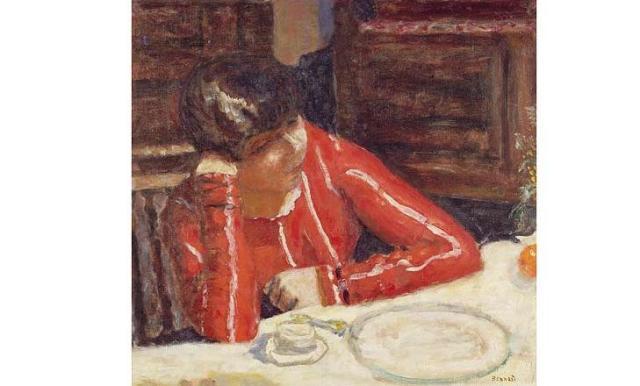 bonnard la blusa roja 1925